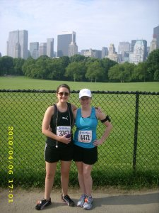 With fellow North Carolinian homie Katie. Also, I don't recommend running in Aviators. Such a rookie.